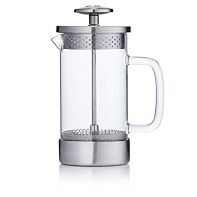 Barista & Co Core French Press Coffee Maker, Plastic Free Cafetiere, 3 Cup, Steel