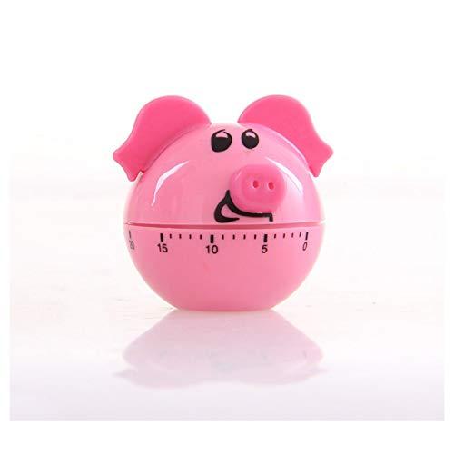 Jayron Mechanical Kitchen Timer Schwein Cartoon Niedlich Form Stundenzähler Countdown Wecker,Geeignet zum Backen und Kochen,Lernen