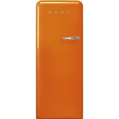 SMEG FAB28LOR3 - Frigorifero Monoporta con Congelatore SMEG Estetica Anni '50 Ventilato 270 Lt arancione con Apertura a sinistra Classe A+++