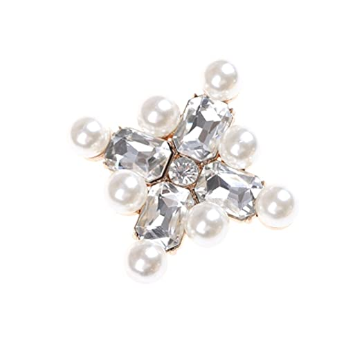 juntao 1 pinza para zapatos de novia elegantes para mujer, con diamantes...