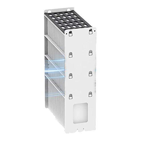Directtyteam, climatizzatore portatile portatile per evaporazione con porta USB, umidificatore ad aria super silenzioso per casa, ufficio e camera da letto bianco