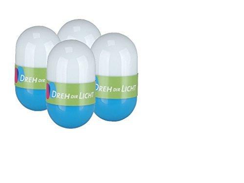 Dreh dir Licht - 4er Set LED-Lichter Türkis