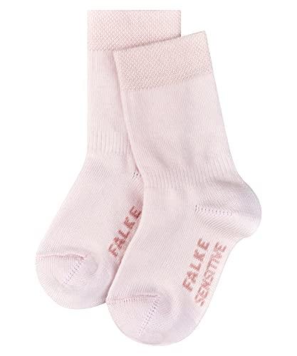 FALKE FALKE Unisex Baby Socken Sensitive, Baumwolle, 1 Paar, Rosa (Powder Rose 8900), 6-12 Monate (74-80cm)