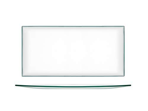 H&H 20625 Juego de 6 Platos, Cristal, Transparente, 33 x 16 cm, Vidrio