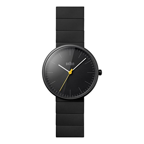 Braun Men's BN0171BKBKG Ceramic Analog Display Japanese Quartz Black Watch