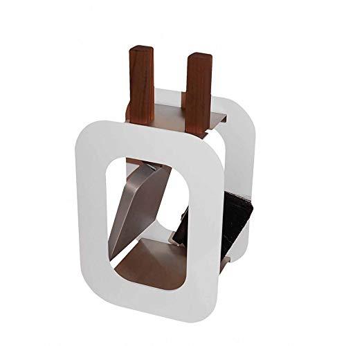 Kaminbesteck Kamingarnitur mit Nussholzgriffen in drei Farben B/H/T - 23/40,5/15 cm by MS Beschläge® (Weiß)