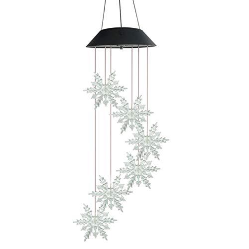 Gowind6 LED Solar Windspiel Licht Schneeflocke Spirale Spinner Farbwechsel Gartenlampe Wasserdicht Outdoor Deko Romantisch für Terrasse Hof Garten