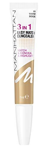 Manhattan 3in1 Easy Match Concealer 80 Warm Beige, 7 ml