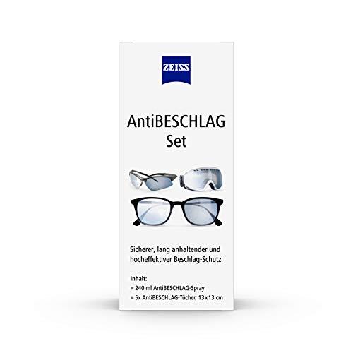 ZEISS AntiBeschlag-Spray mit 240ml Inhalt inklusive 5x AntiBeschlag-Tücher für einen lang anhalzenden Beschlagschutz - auch bei hoher Luftfeuchtigkeit