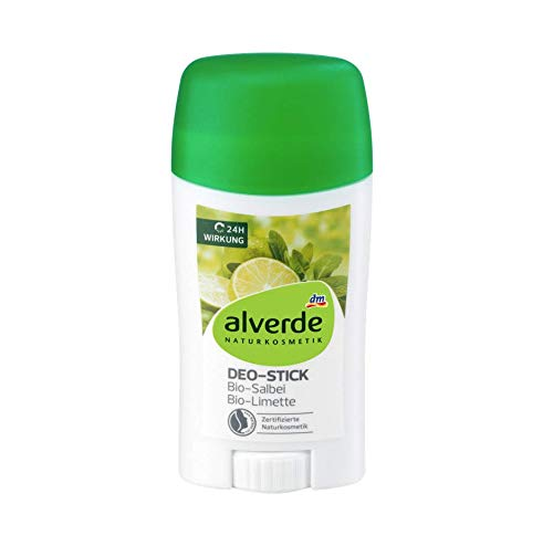 alverde NATURKOSMETIK Deo Stick Deodorant Salbei Limette, 1 x 50 ml