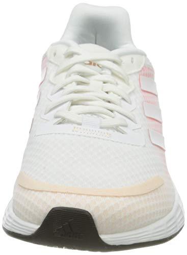 adidas Duramo SL, Sneaker Mujer, Footwear White/Footwear White/Signal Pink, 40 EU