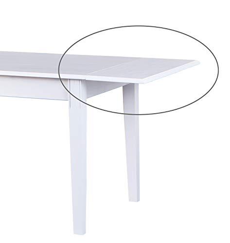 esidra Hopkinsville Rallonge pour Table westerland, Bois, Blanc, 90 x 40 x 2.1 cm