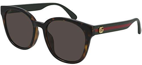 Gucci Gafas de sol GG0855SK 003 Gafas de sol Mujer color Marrón Habana tamaño de lente 56 mm