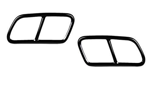 OptimumParts24 AB_6 2x Auspuffblenden passend für E Klasse W212 T Modell Cls W218 Shooting Brake GLK Schwarz Edelstahl Auspuff Blende Endrohre