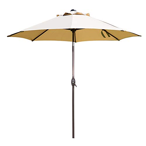 Abba Patio 9 Feet Patio Umbrella Market Outdoor Table Umbrella with Auto Tilt and Crank, Beige