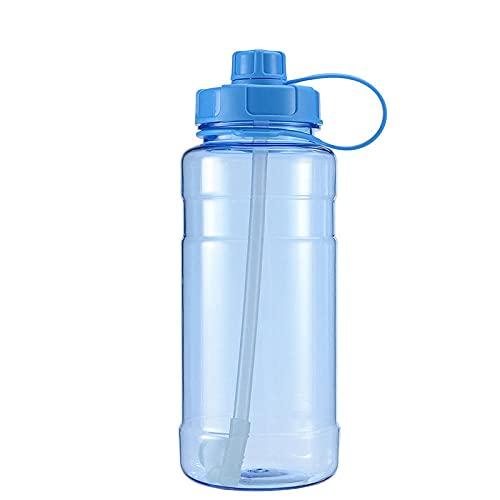 Yidieman Botella de Agua para Deportes de Gimnasio,Botella de Agua Grande de 2L con asa-Blue_1500ML,Sin BPA tóxico con Tapa con bisagras