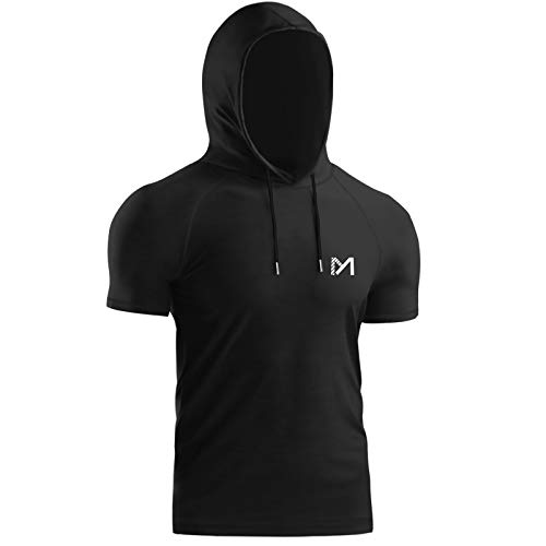 MEETYOO Tee Shirt Homme, Hauts à Manches Courtes T Shirt Gym Baselayer pour Running Fitness Sports