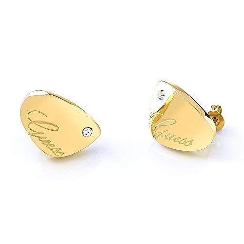 Indovina orecchini Liquid UBE79136 liscio oro in acciaio inossidabile placcato in cristallo Swarovski logo