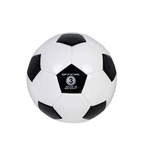 YANYODO Soccer Training Ball Practice Traditional Soccer Balls Classic Sizes 3/4/5 for Toddler, Youth, Kids, Teens, Adults, Perfect for Outdoor & Indoor Match or Game,Black&White Size 3