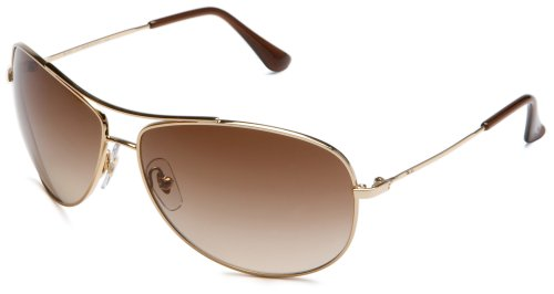 Ray-Ban RB3293 Metal Aviator Sunglasses, Gold/Dark Brown Gradient, 63 mm