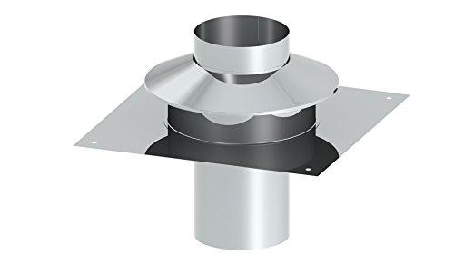 Schornstein EW einwandige Universalkopfabdeckung mit Ringspalthinterlüftung und Wetterkragen, Ø 120 mm
