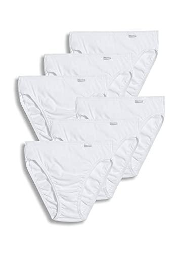 Jockey Women's Underwear Elance French Cut - 6 Pack, White, 6