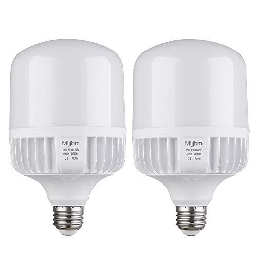 250W-300W Equivalent LED Bulb, Daylight Bulb 5000K 35Watt Commercial Retrofit LED, Super Bright 3500Lumen Garage Light, E26 Base Light Bulb for Warehouse,Area,Basement, Home Light, 2Pack