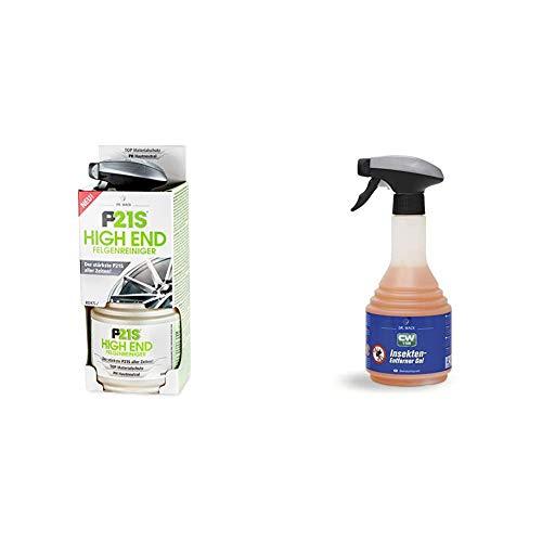 Dr. Wack - P21S HIGH END Felgenreiniger 750 ml I Premium Felgen-Reiniger für alle Felgen & CW1:100 Insekten-Entferner Gel 500 ml I Premium Insekten-Reiniger für Scheibe, Scheinwerfer & Frontpartie