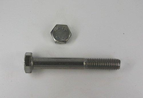 10 Stk Sechskantschraube mit Schaft DIN 931 M12 x 130 - Edelstahl V2A