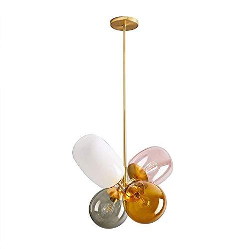 Kroonluchter, Retro Vintage hanglamp Opknoping Fixture Plafondlamp Kroonluchter, mooie glazen Transparant Decoratieve verlichting