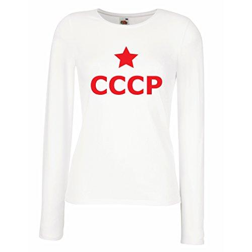 lepni.me Dames T-shirt USSR Ster, ССР Rusland Vintage Politiek Russisch
