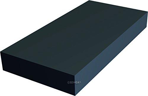 SIHGA | JUSTIFIX® J H | Terrassenmontage | Unterlage Unterkonstruktion | EPDM (80 x 40 x 10 mm | 30 Stück)