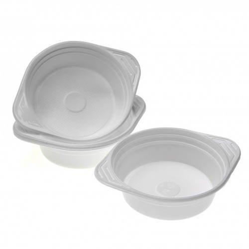 KHE255 Suppen-Schüssel weiß, Plastik, 0,5l, 10 Stk