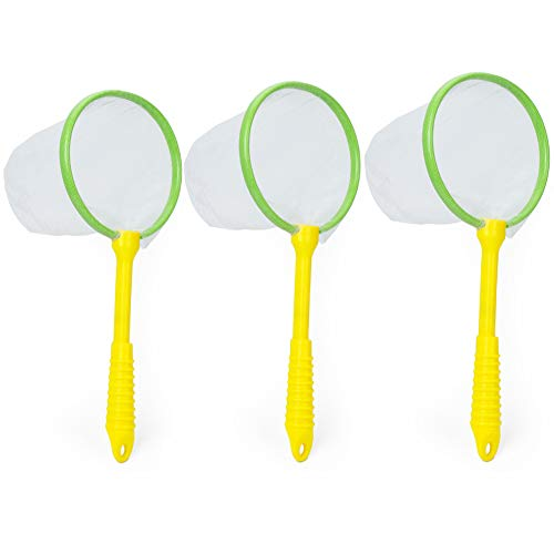 RESTCLOUD 3pcs Kids Bug Catching Nets Butterfly and Insect Collecting Net Gift for Kids