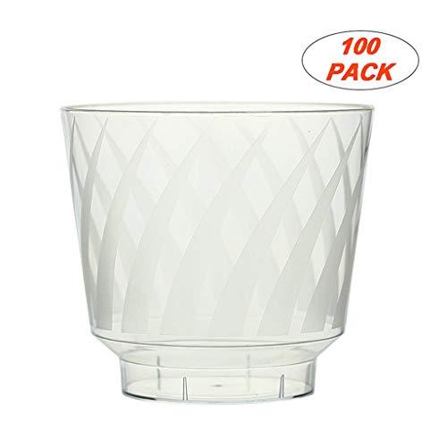 Vaso de Beber desechable 100 piezas de plástico duro mate Tazas del partido 10 onzas vasos de moda al por mayor copas de cóctel Copas del banquete de boda del partido Vasos de plástico Copas puñetazo