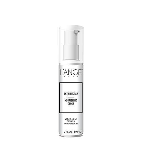L'ange Hair SATIN NÉCTAR Nourishing Gloss - Vitamin A, C & E for Conditioning - Coconut & Sunflower Oil for Healthy Hair - Professional Salon Grade Care - Best Spray for All Hair Type, 2 Fl Oz