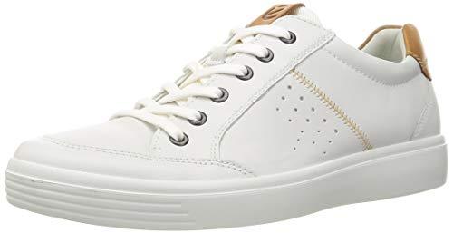 ECCO Herren Sneaker, weich, klassisch, lang, Spitze, Weiß/Löwe, Größe 43-44