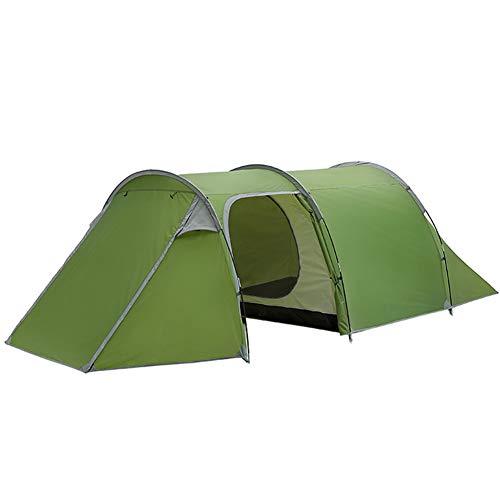 GYFHMY 3-4 Personen Camping Tunnelzelt, wasserdichtes 190T Polyestergewebe, unabhängiges internes Konto, komfortabler Platz für Familienreisen