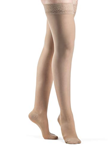 SIGVARIS Women's Style Sheer 780 Closed Toe Thigh-Highs w/Grip Top 20-30mmHg
