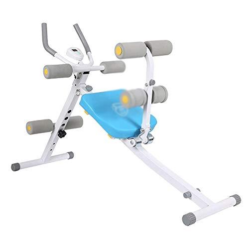 UIZSDIUZ Sit-up Junta - Bench Press Fitness Abdominales Junta, Lazy Abdominal Abdomen Ejercicio Fitness Equipment Cintura Fina de la Belleza de la Cintura de la máquina Gris-Azul