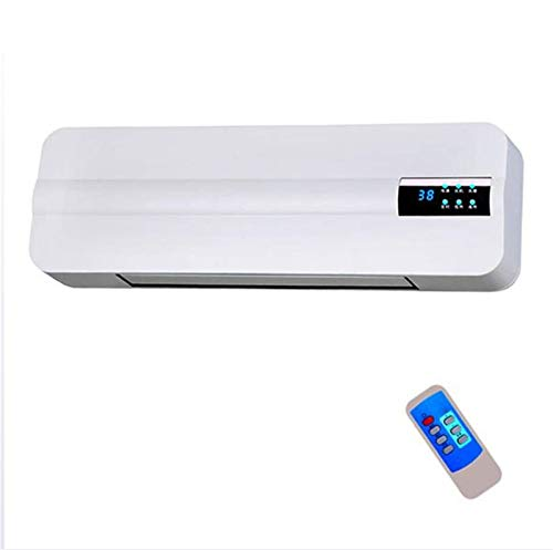 SqSYqz Wall-Mounted Air Conditioner,Bathroom Heater-2000W,Remote Control And Timer- HD LCD Smart Display,Hot And Cold Dual-Use Air Conditioning Fan
