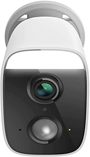 D-Link DCS-8627LH - Cámara Exterior WiFi Control por Voz, Foco Luz LED Spotlight 400 Lumen, Sirena 100 dB, Full HD, Visión 150°, Detección Personas, Vídeo en la Nube, IP65, Blanca
