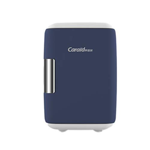 Mini réfrigérateur 5L petit réfrigérateur domestique à double usage de voiture portable à usage domestique, petit réfrigérateur, 26.5 * 26 * 17cm (Color : Blue)