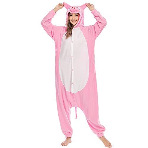 LBJR Pijamas Cosplay Traje Disfraces Unisexo Adulto Animal Ropa de Dormir Halloween Marrón
