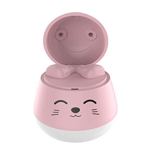 HSKB Bluetooth hoofdtelefoon, leuke mini-oordopjes, in-ear true draadloze oordopjes, Bluetooth 5.0, headset True Noise Cancelling, mini-oordopjes met microfoon voor kinderen voor vriendin