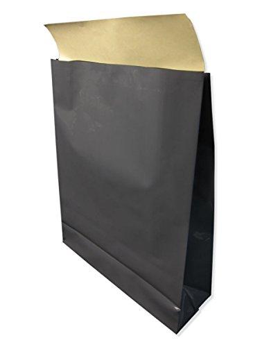 ポリ宅配袋 角底 Sサイズ 50枚 縦320×横260×マチ82mm 色:グレー 強力ワンタッチテープ付