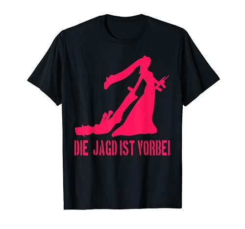 Die Jagd ist Vorbei Lustiges Polter T-Shirt Heirat Hochzeit T-Shirt