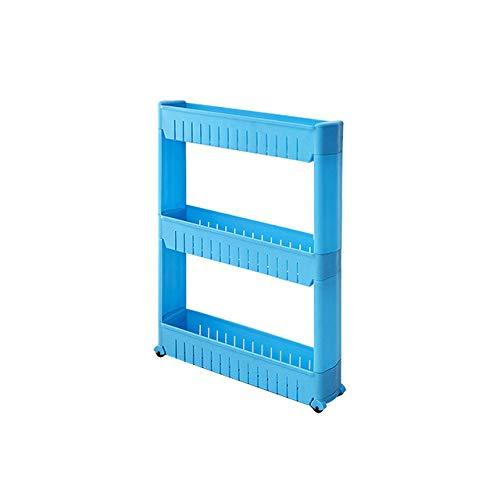 HHD Lagerregal Kunststoff-Subdries-Rack Bewegliche Zwischenraum-Lagerregale Kühlschrank-Raumregal mit Rollküche Organizer-in Lagerhalter und Racks von Haus und Garten an