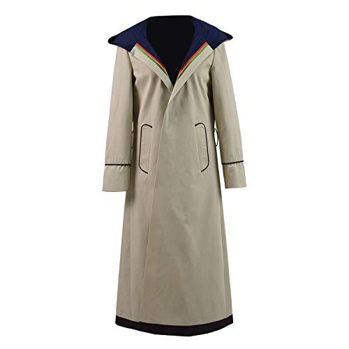 Jinlan Doktor dreizehnten 13. Dr. Who Cosplay Kostüm Beige Mantel für Frauen (M, Mäntel)