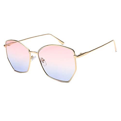 N\P Gafas de sol, gafas poligonales, gafas de sol de colores para mujer